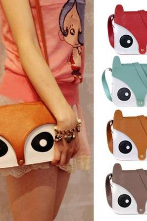 PU Leather Cartoon Fox Hobo Retro Shoulder Bag