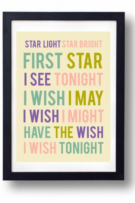 Star Light Star Bright- Inspirational Quote-