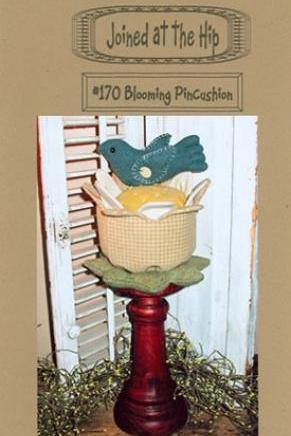BLOOMING PINCUSHION WITH LITTLE BIRD EASY GIFT TO MAKE