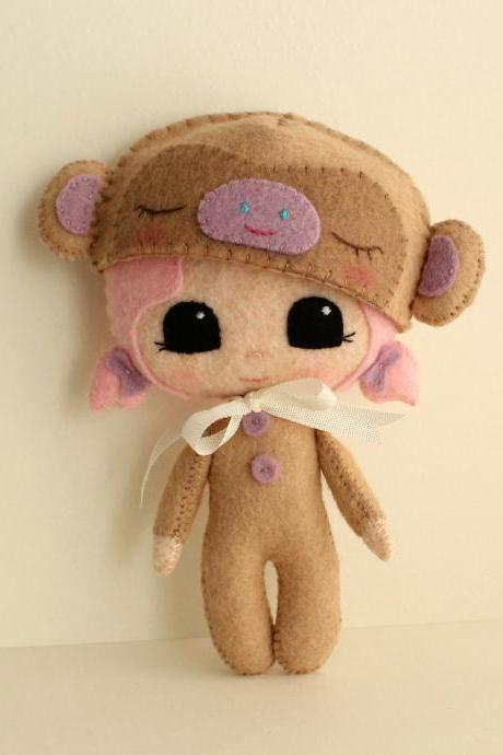Peek-a-Boo Monkey pdf Pattern