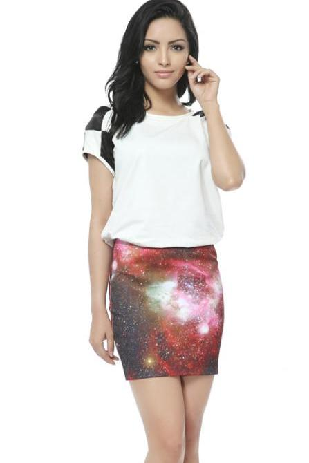 Cute Space Pattern Skirts