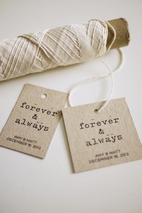 Forever and Always - Personalized Favor Tags (PRINTABLE)