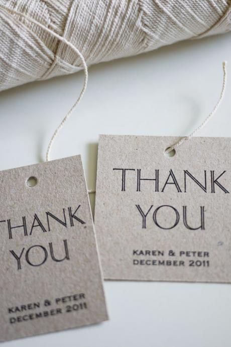 Thank You - Personalized Favor Tags (PRINTABLE)