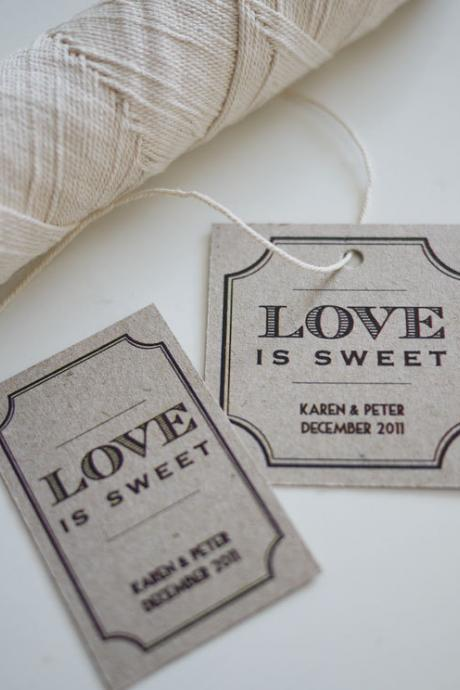 Love is Sweet Personalized Favor Tags (PRINTABLE)