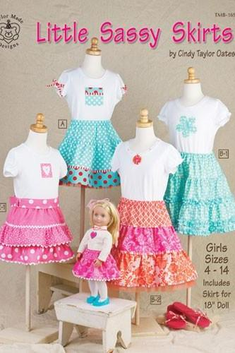 Last One Little Sassy Skirts Pattern Book by Cindy Taylor Oates