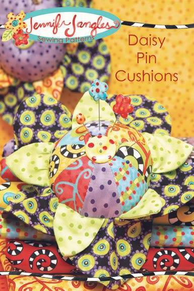 New Daisy Pin Cushion Pattern by Jennifer Jangles