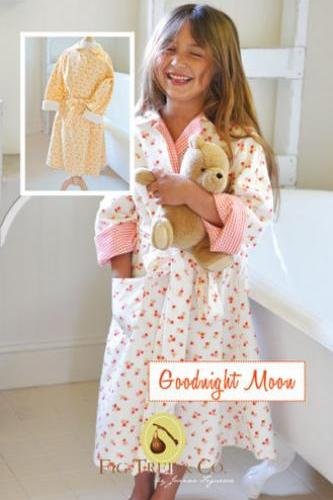 Girls or Boys Reversible Robe Pattern Goodnight Moon by Fig Tree Quilts