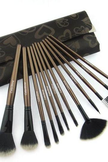 Top Quality ColorShine High Quality 12 Pcs makeup Brushes Cosmetic Brush Set Professional Makeup brush