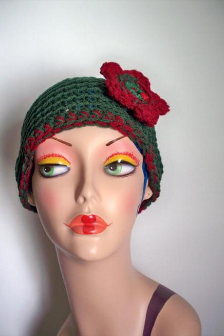 Green and Red Christmas Beanie Hat (One Size)
