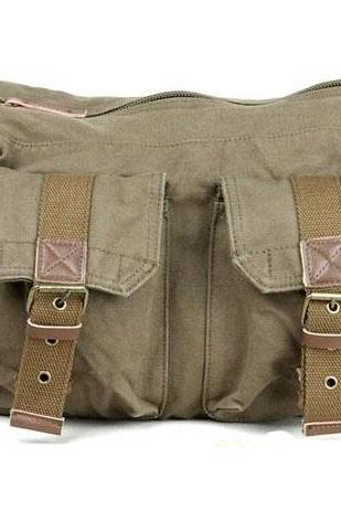 Mens Vintage Canvas Medium Size Sailor Style Casual Shoulder Messenger Bag
