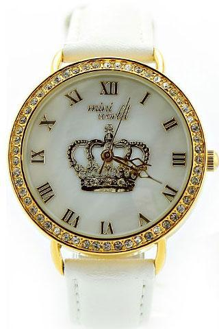 Fashion Rhinestone Crown Polymer Clay Watch