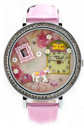 Pink Lovely Whitehorse Floral Polymer clay Watch