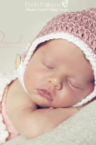 Crochet Hat Pattern Pixie Hat Chin Strap Pixie Hat Pattern Newborn to Adult Sizes PDF 272