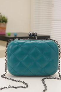Candy-color fluorescent Snakeskin Evening Clutch Party Bridal Fashion Chain Bags