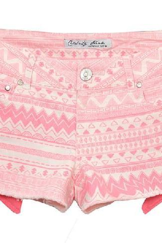Pink Tribal Print Short