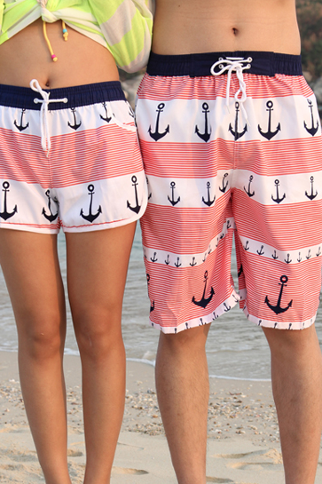 Anchor Lovers Beach Shorts For Women