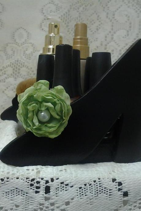 Boutique Shoe organizer high heels, Great on a vanity to hold nail polish, perfume, make up organizer, earring holder.