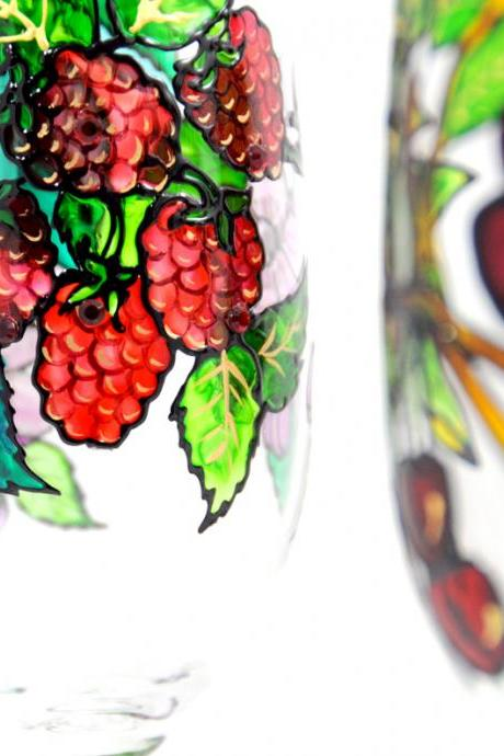 Hand Painted Glass, Summer, Seasonal Collection