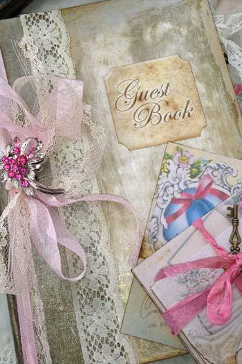 Wedding Guest book - Vintage Custom 1940's style book - 60 pages