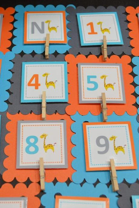 First Year Photo Clips, First Year Banner, Giraffe Birthday Party, Any Theme