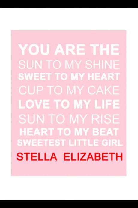 You are the Sun to My Shine-Baby girl Nursery Art