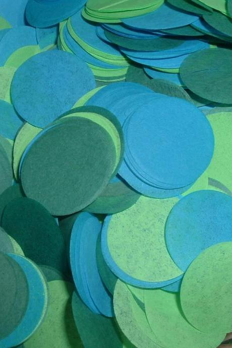 5oz Tissue Paper Confetti - Blue & Green
