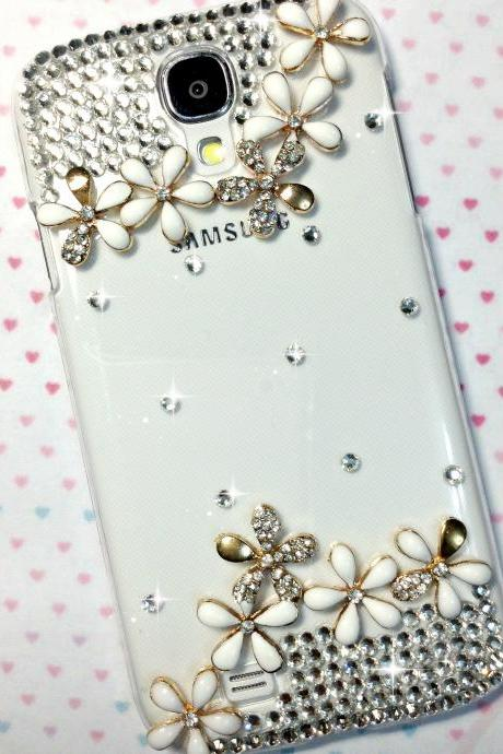 3D Handmade Flower Design Case Cover For Samsung Galaxy S 4 S4 IV LTE i9500 i9505