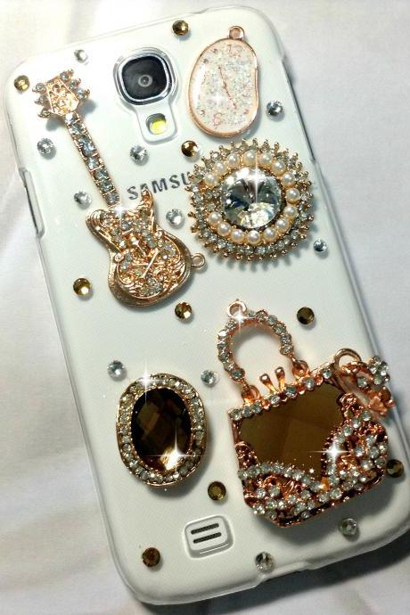 3D Handmade Luxury Crystal Design Case Cover For Samsung Galaxy S 4 S4 IV LTE i9500 i9505