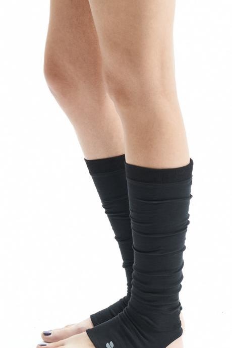 Black Yoga Spats / Yoga Leg Warmers / Yoga Socks