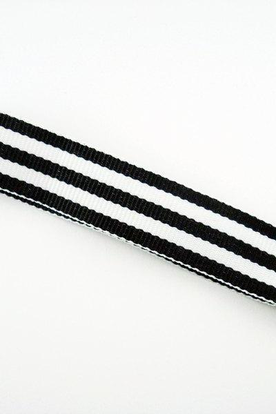 Black Stripe Ribbon Cell Phone Strap