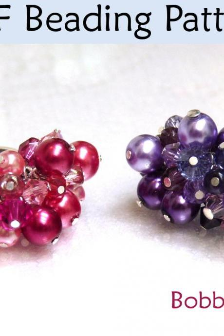 Beading Tutorial Pattern Ring - Wire Working Project - Simple Bead Patterns - Bobble Ring #1633