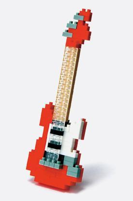 Nanoblock_Electric Red Guitar