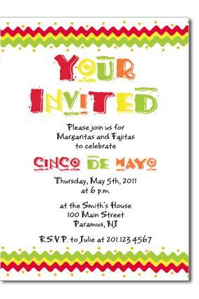 Cinco De Mayo Custom Invitation