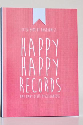 Happy Happy Records And Many Other Misc - Notebook / Journal