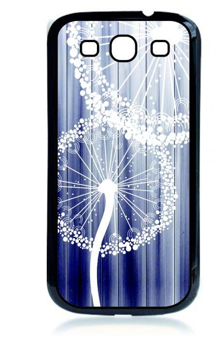 Samsung Galaxy S3 Case - White Dandelion Wood Case- Protective Covers for phones