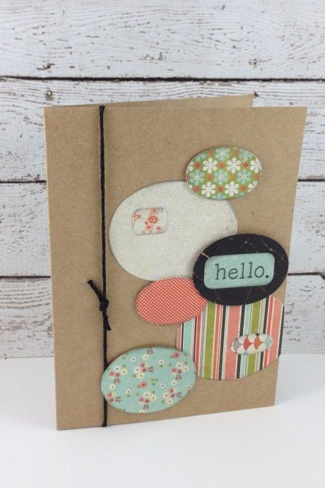 Oval Hello Greeting Card