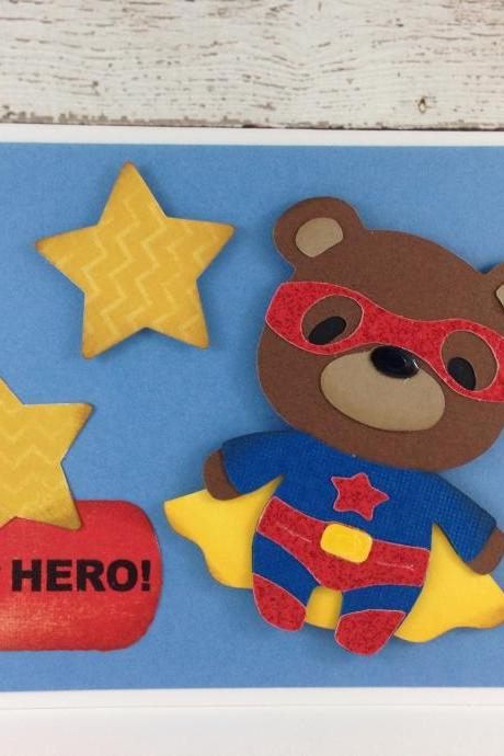 Superhero Bear Greeting Card