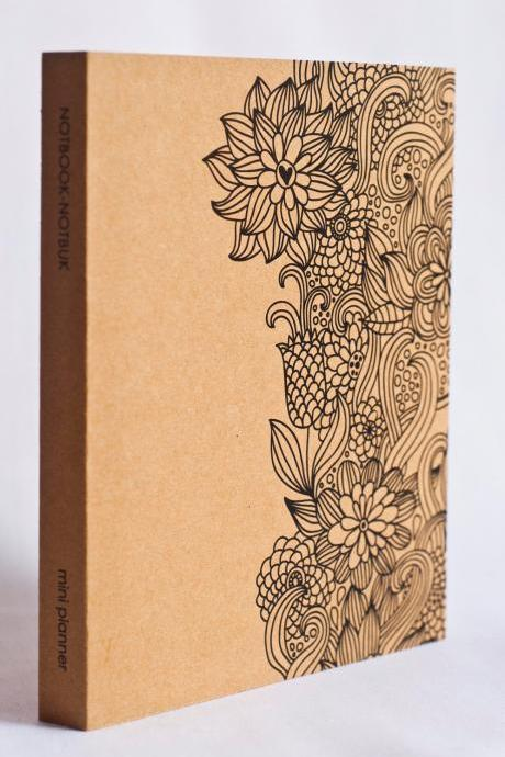 Mini Kraft Weekly Planner - Floral Art Print