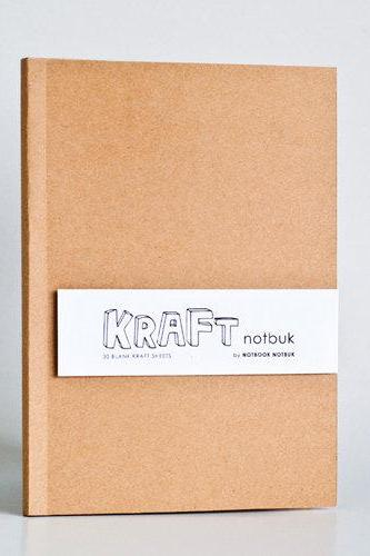 A5 size - Blank Kraft Paper Notebook