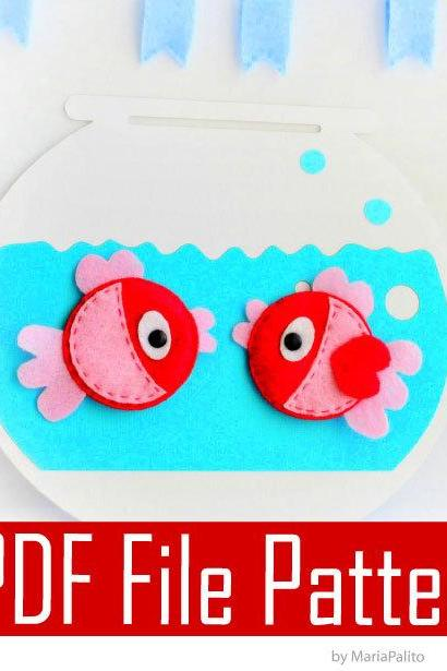 Fish Felt Magnets Sewing pattern - PDF ePATTERN A296