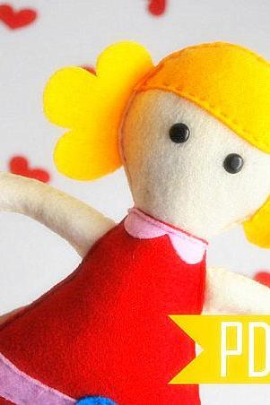 Molly Rag Doll Sewing pattern - PDF ePATTERN - Softie Rag Doll Toy A493