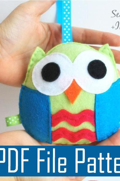 Owl PDF Sewing pattern , Kids craft Project A670