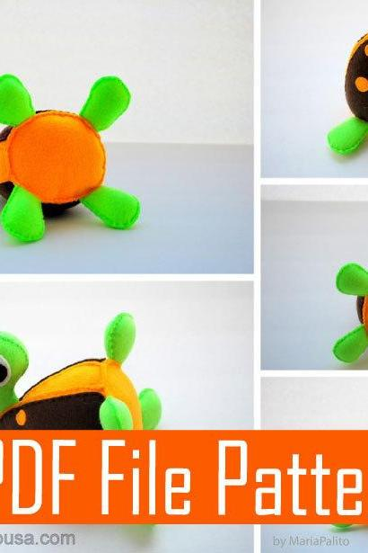 BABY Turtle Sewing pattern - PDF ePATTERN & instructions A507