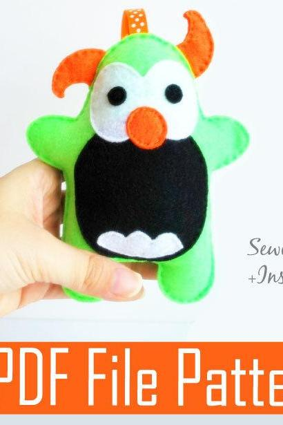 Monster Plush Sewing pattern - PDF ePATTERN A777