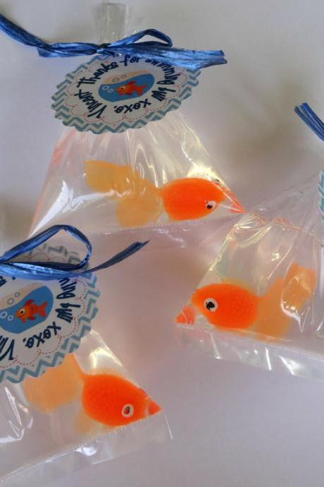 10 Goldfish In A Bag Soap Party Favor Carnival Theme Elmo Theme party