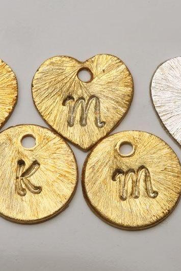 For tydesign Jewelry buyer ONLY,will not be sold separately.Add Gold plated initial letter disc charm