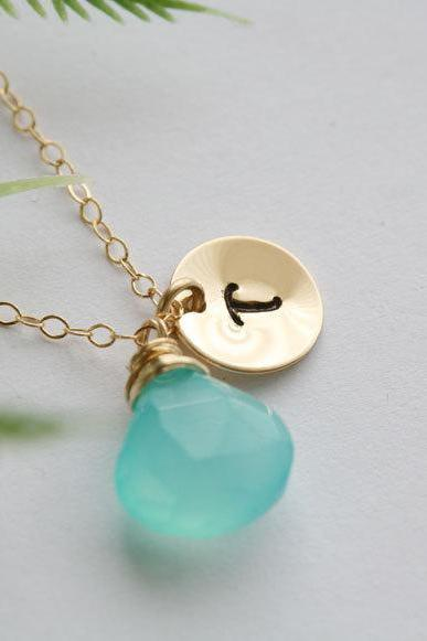 Initial Necklace,Custom Gold Filled initial disc and birthstone,Bridesmaid gift,Birthday, Anniversary, Best friends,Wedding Bridal jewelry