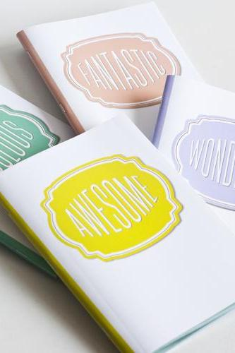 SET OF 4 - Compliment Series ( Awesome, Fabulous, Wonderful, Fantastic Notebook / Journal)