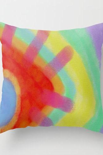 Abstract Art Pillow Cover Case My Colorful Abstract Digital Painting
