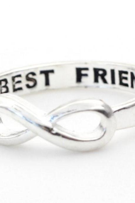 BEST FRIEND Infinity Ring in silver